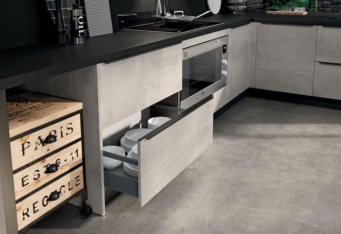 Colombini Casa Cucina Moderna Paragon cassetti grandi 43b