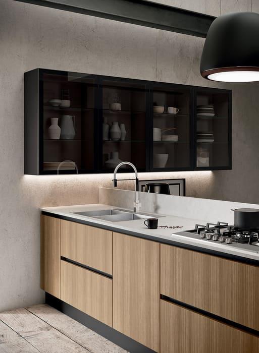 Colombini Casa Cucina Moderna Paragon con sportelli legno 26