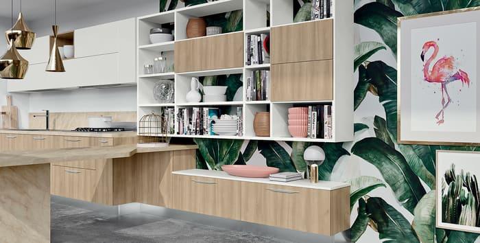 Colombini Casa Cucina Moderna Paragon elementi giorno per open space 56 57
