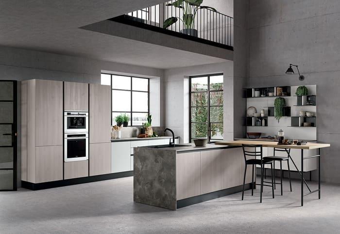 Colombini Casa Cucina Moderna Paragon finitura cemento artico 66 67