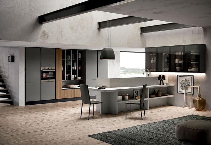 Colombini Casa Cucina Moderna Paragon finitura grigio titanio 22 23