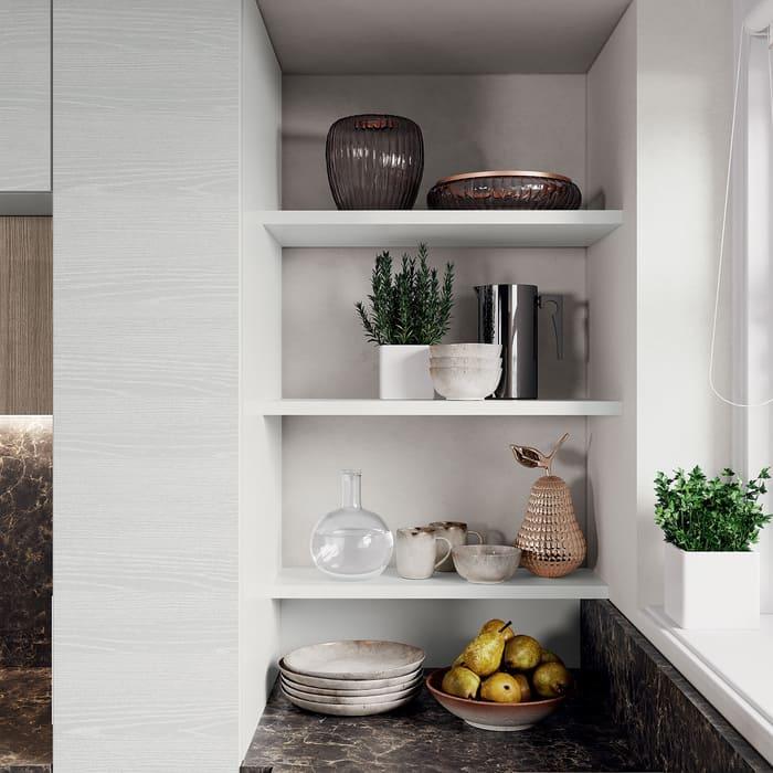 Colombini Casa Cucina Moderna Paragon mensole bianche 109b