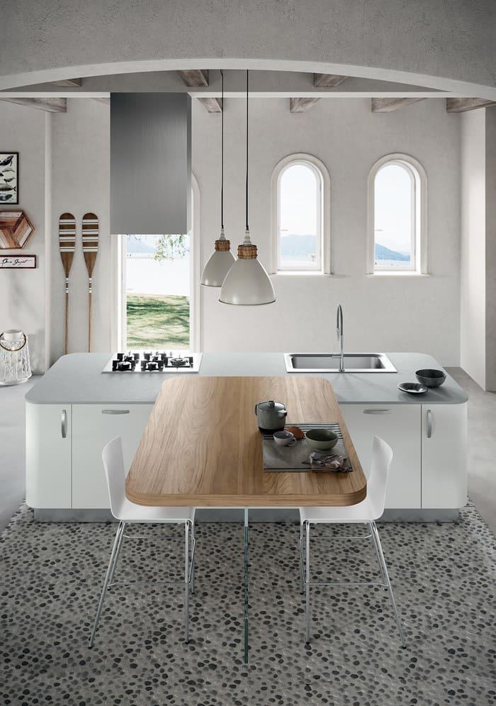 Colombini Casa Cucina Moderna Paragon penisola legno 12