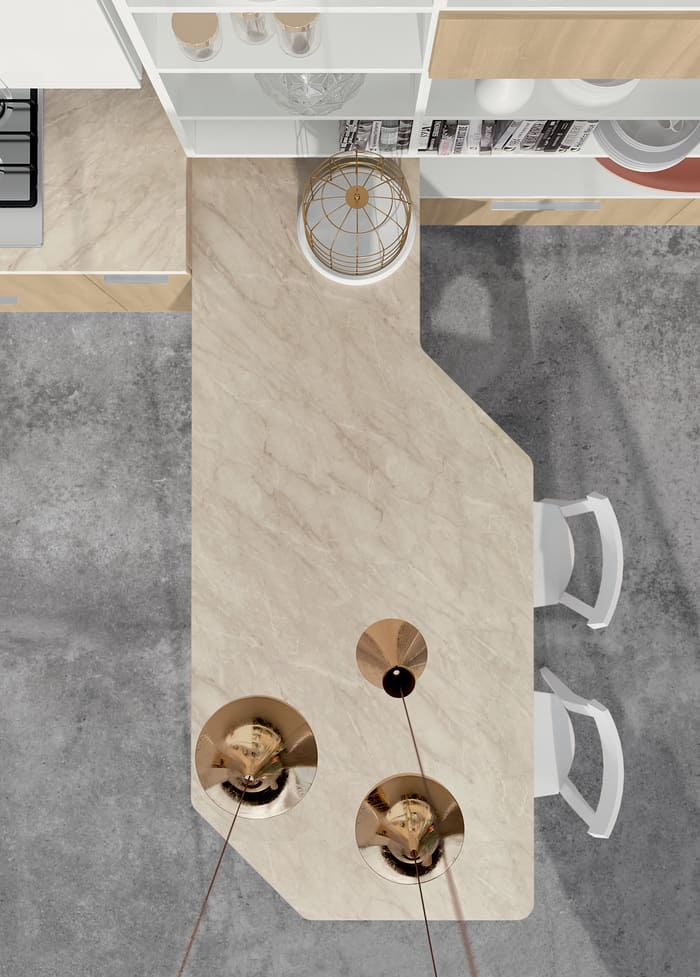 Colombini Casa Cucina Moderna Paragon penisola sagomata 59