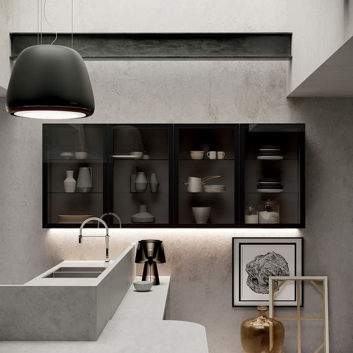 Colombini Casa Cucina Moderna Paragon pensili con vetri 27