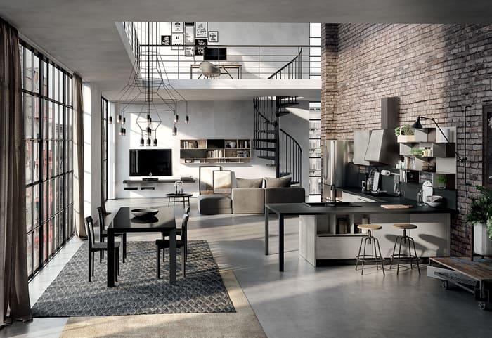 Colombini Casa Cucina Moderna Paragon per open space 36 37