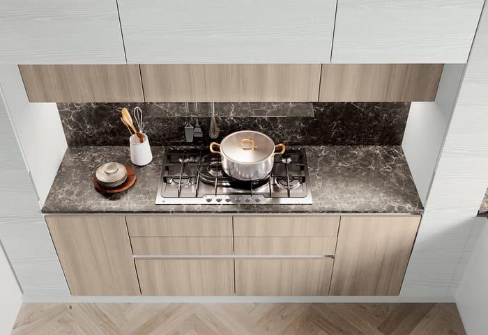 Colombini Casa Cucina Moderna Paragon piano in marmo 109a