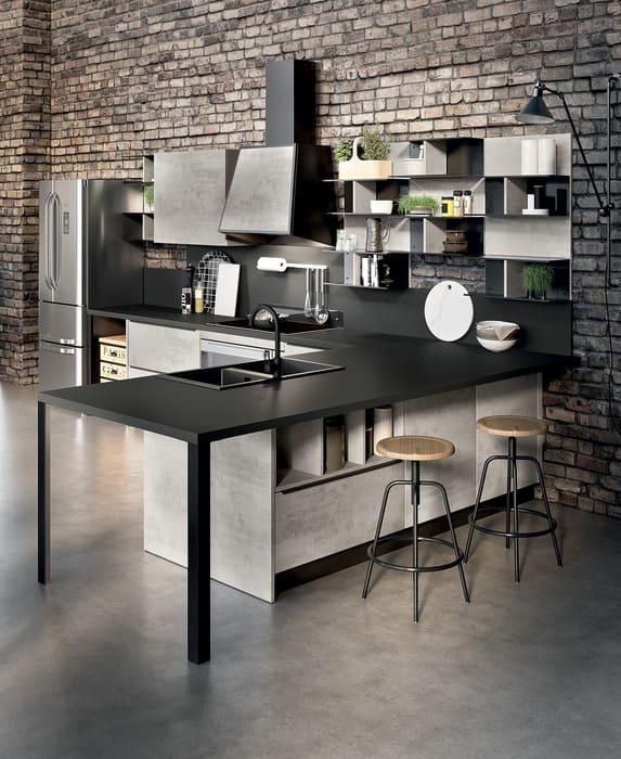 Colombini Casa Cucina Moderna Paragon piano nero 41