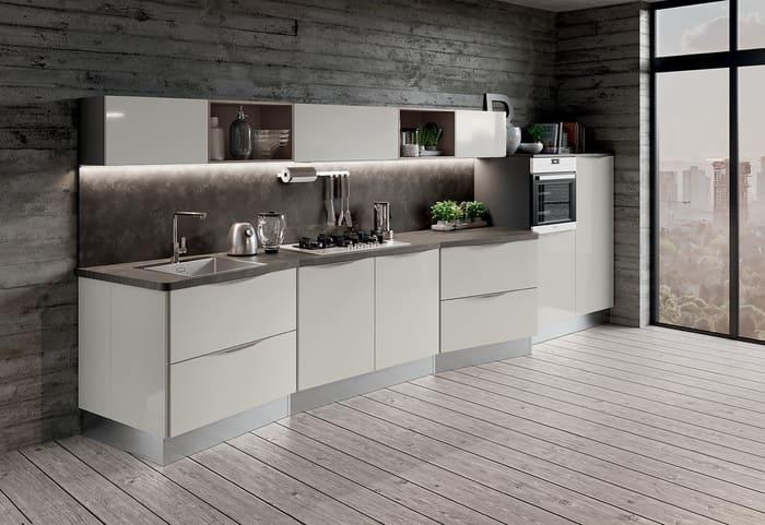 Colombini Casa Cucina Moderna Paragon piano sagomato 80 81