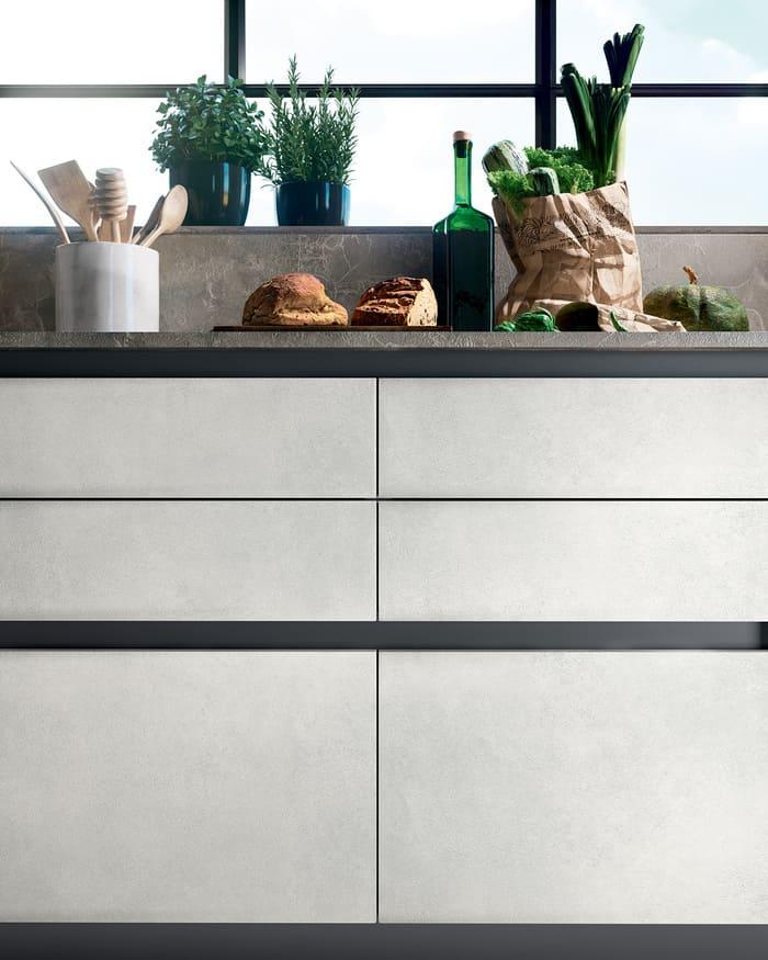Colombini Casa Cucina Moderna Paragon sportelli cemento 69