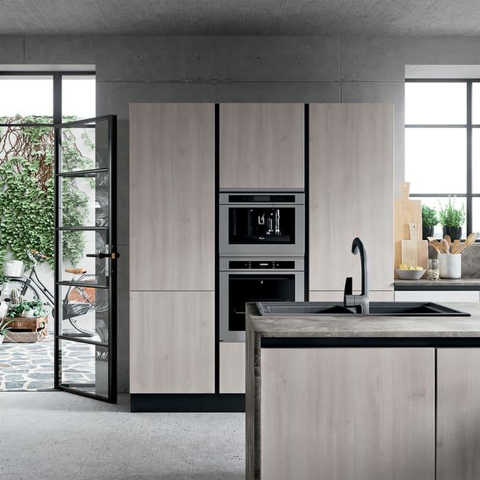 Colombini Casa Cucina Moderna Paragon sportelli senza maniglia 73