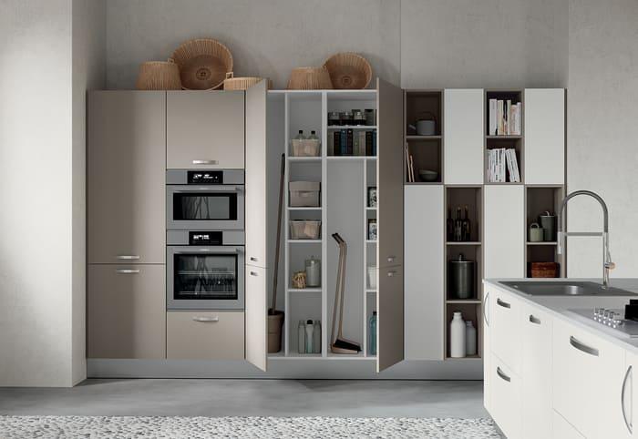 Colombini Casa Cucina Moderna Paragon sportelli tortora 14