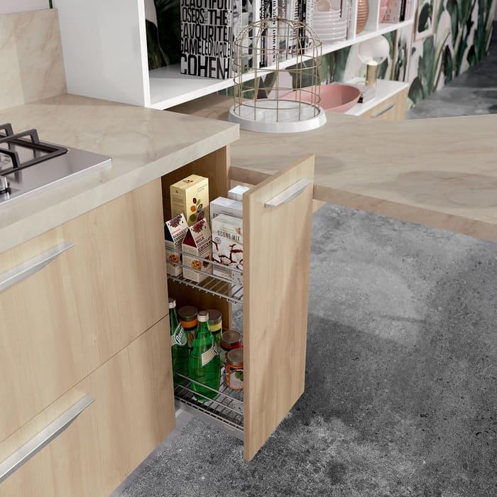 Colombini Casa Cucina Moderna Paragon sportello estraibile con cestello 54
