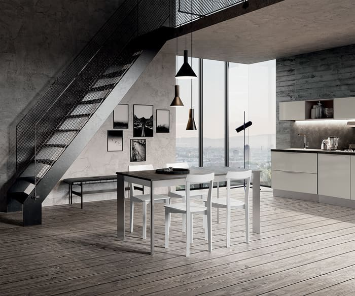 Colombini Casa Cucina Moderna Paragon tavolo coordinato 84c