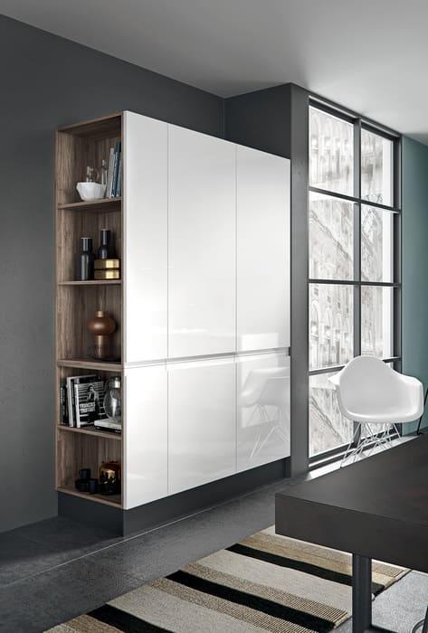 Colombini Casa Cucina Moderna Pura colonna laccata bianca 43