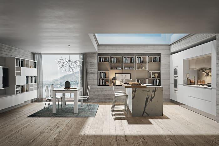 Colombini Casa Cucina Moderna Pura coordinata con living 8 9