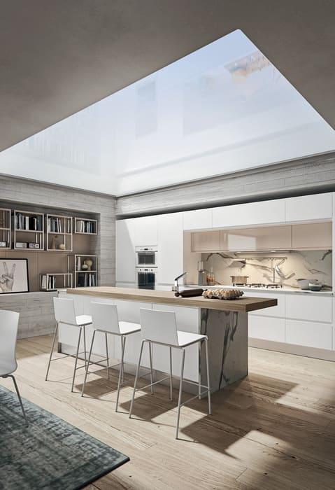 Colombini Casa Cucina Moderna Pura in linea con isola 12a