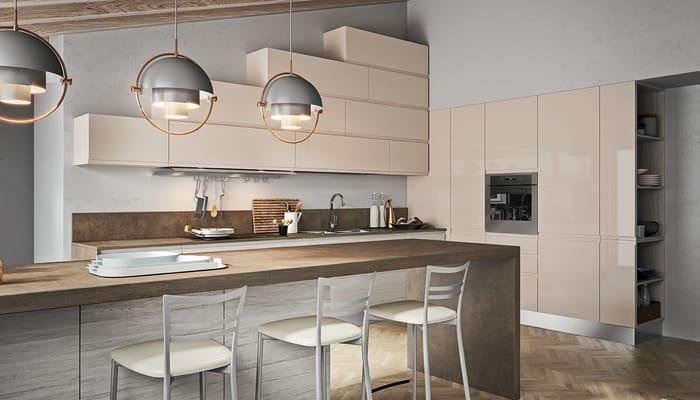 Colombini Casa Cucina Moderna Pura laccata tortora 24 25
