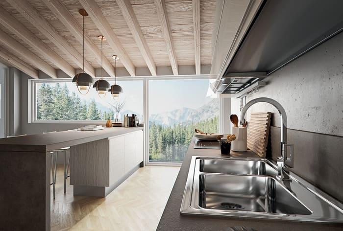 Colombini Casa Cucina Moderna Pura lavello acciaio moderno 29