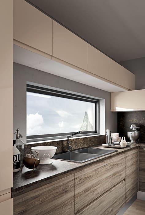 Colombini Casa Cucina Moderna Pura pensili laccati sabbia 67