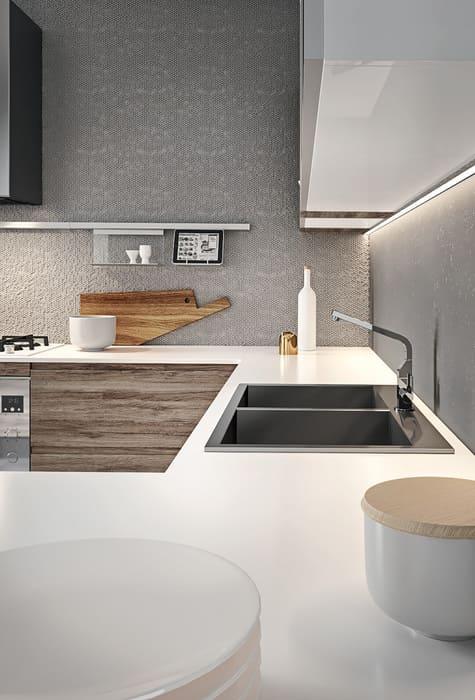 Colombini Casa Cucina Moderna Pura piano bianco 42b