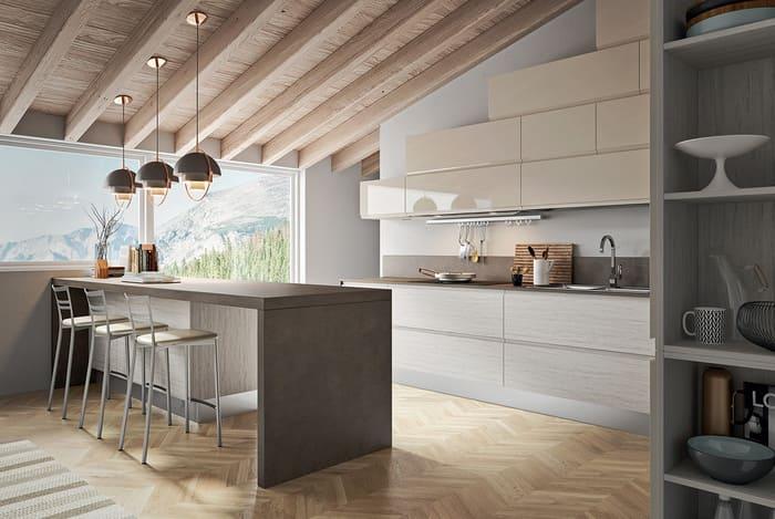 Colombini Casa Cucina Moderna Pura sabbia lux con isola 26 27