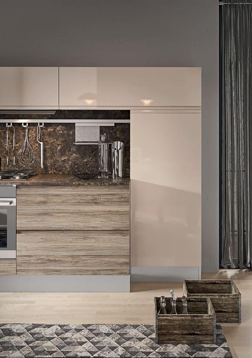 Colombini Casa Cucina Moderna Pura sabbia lux e rovere nocciola 66c