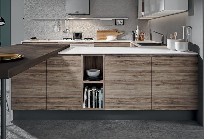 Colombini Casa Cucina Moderna Pura sportelli rovere 42c