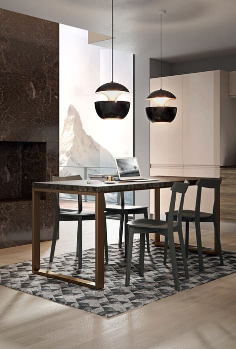 Colombini Casa Cucina Moderna Pura tavolo coordinato piano 68