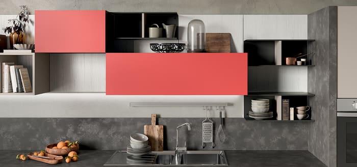 Colombini Casa Cucina Moderna Quadra ante rosso opaco 82 83