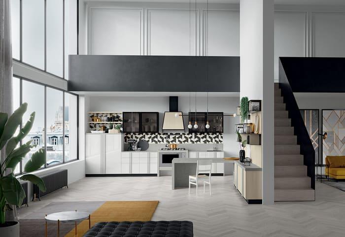 Colombini Casa Cucina Moderna Quadra bianca e grigia 48 49