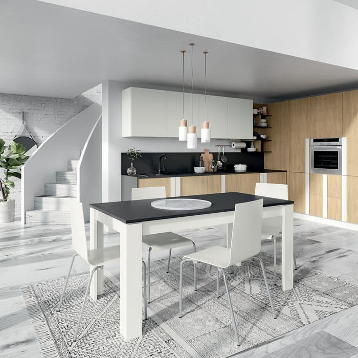 Colombini Casa Cucina Moderna Quadra bianca e legno 89