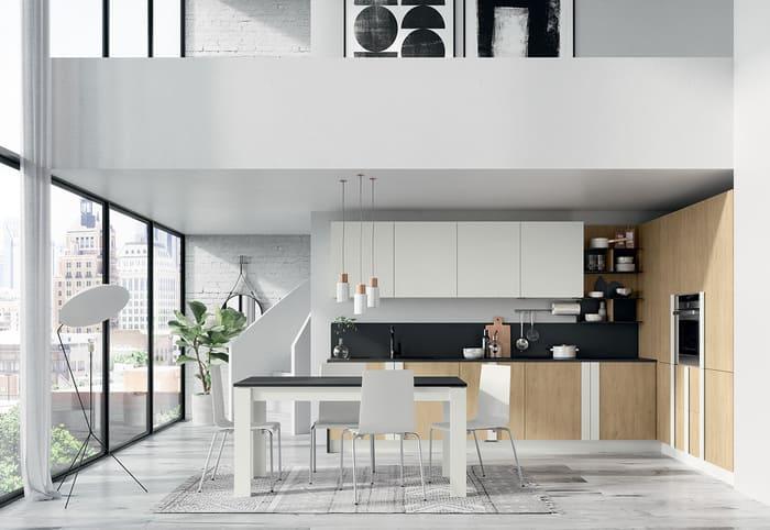 Colombini Casa Cucina Moderna Quadra bianca e royal oak 36 37