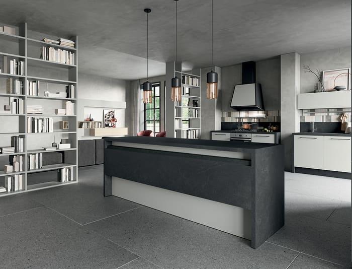 Colombini Casa Cucina Moderna Quadra con mensola reclinabile 65