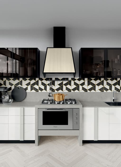 Colombini Casa Cucina Moderna Quadra forno e fuochi 52
