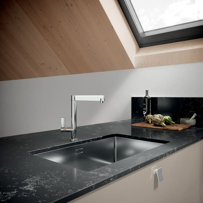 Colombini Casa Cucina Moderna Quadra lavello design 27a