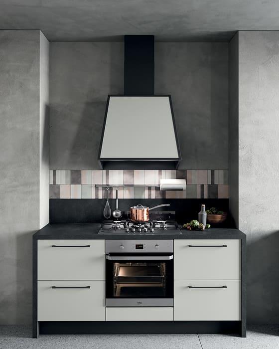 Colombini Casa Cucina Moderna Quadra mobile fuochi e forno 67