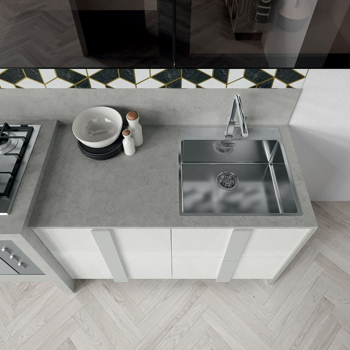 Colombini Casa Cucina Moderna Quadra piano grigio 53a