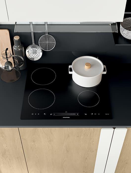 Colombini Casa Cucina Moderna Quadra piano induzione 41b