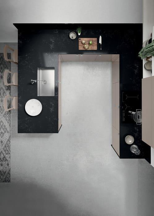 Colombini Casa Cucina Moderna Quadra piano marmo nero 26