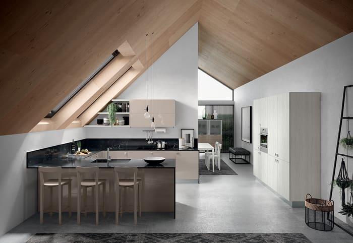 Colombini Casa Cucina Moderna Quadra piano nero 22 23