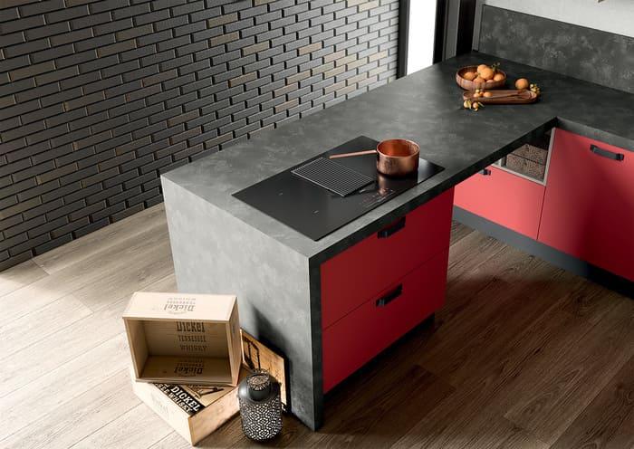 Colombini Casa Cucina Moderna Quadra piano scuro 80
