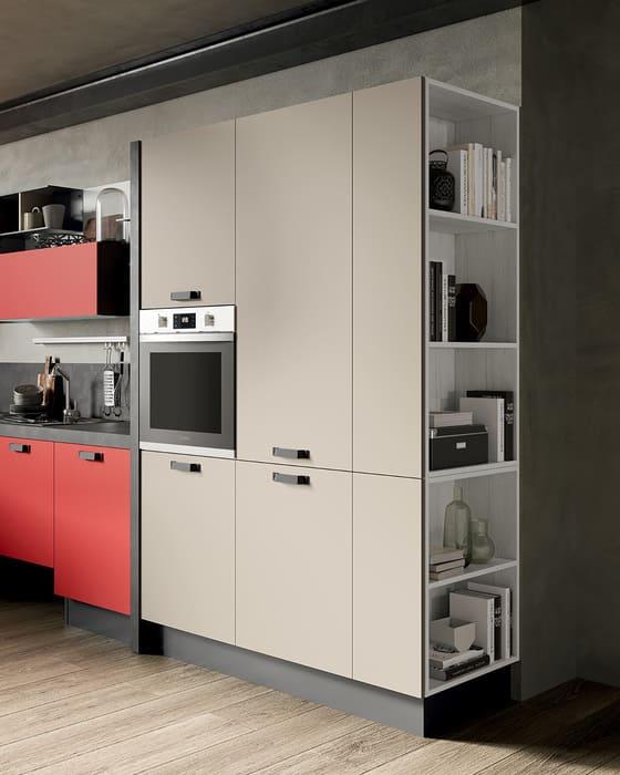 Colombini Casa Cucina Moderna Quadra sportelli canapa opaco 85a