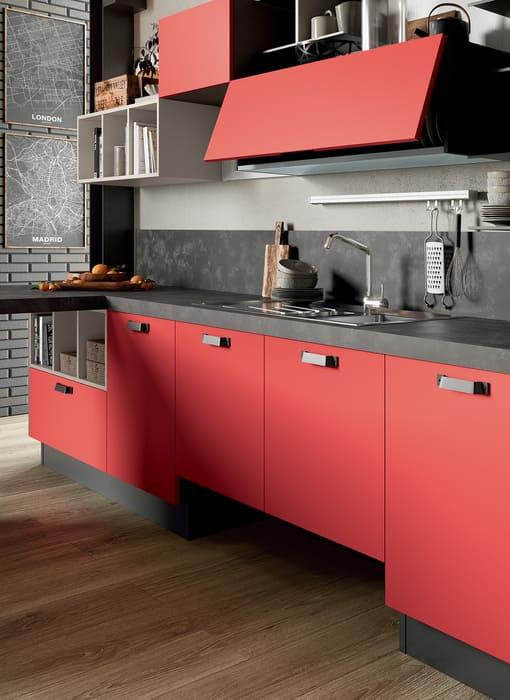 Colombini Casa Cucina Moderna Quadra sportelli con maniglie design 84
