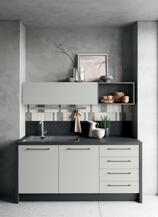 Colombini Casa Cucina Moderna Quadra sportelli grigi 66