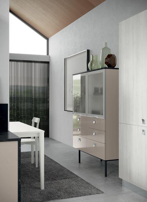 Colombini Casa Cucina Moderna Quadra vetrina coordinata 28