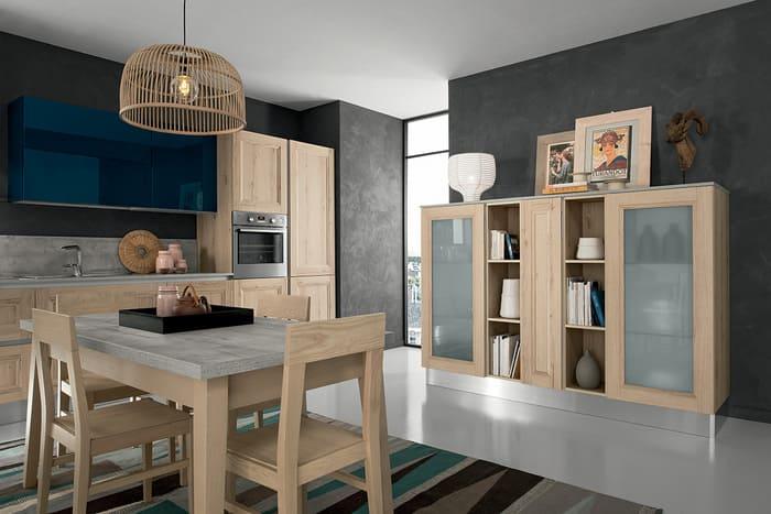 Colombini Casa Cucina Moderna Riviera abbinata con tavolo e sedie 39a
