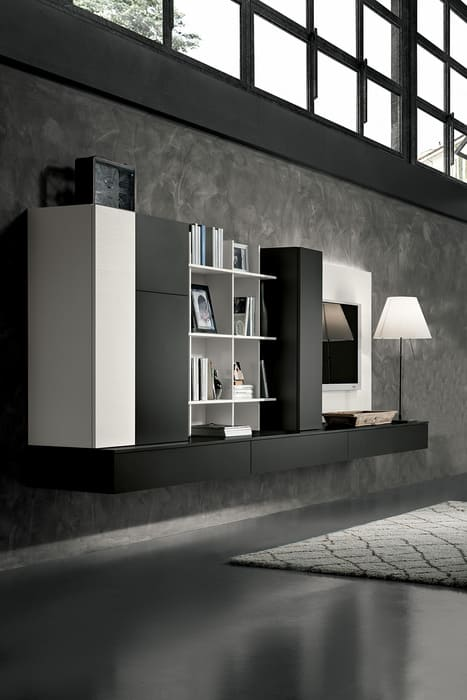 Colombini Casa Cucina Moderna Riviera abbinato mobile salotto 74