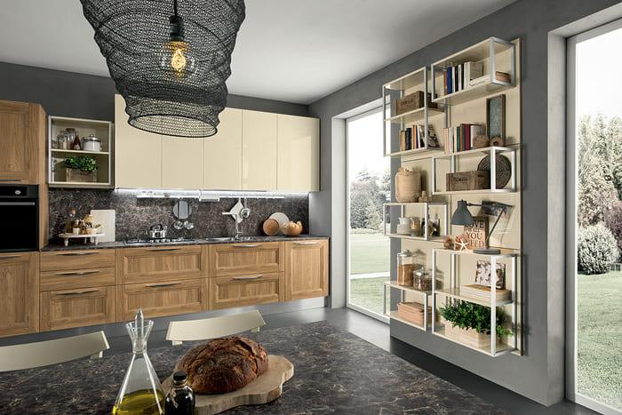 Colombini Casa Cucina Moderna Riviera avorio e legno 42 43