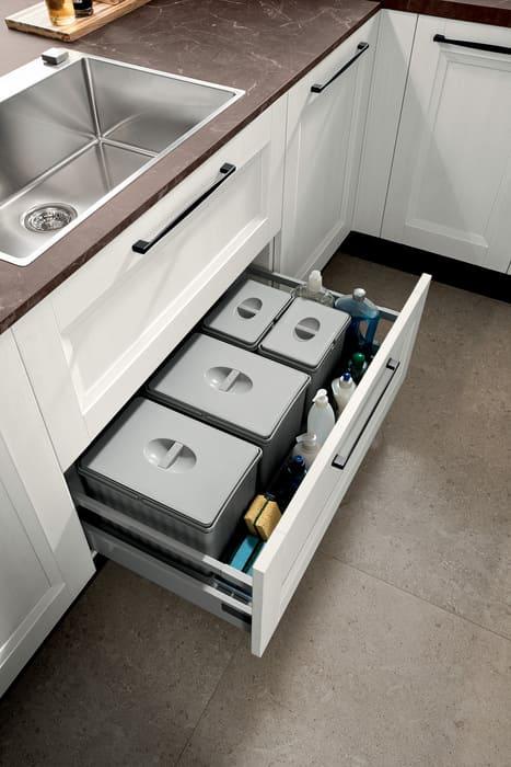 Colombini Casa Cucina Moderna Riviera cassetto porta rifiuti differenziati 17d 1